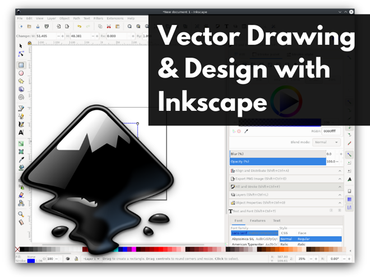 Vector Drawing & Design with Inkscape