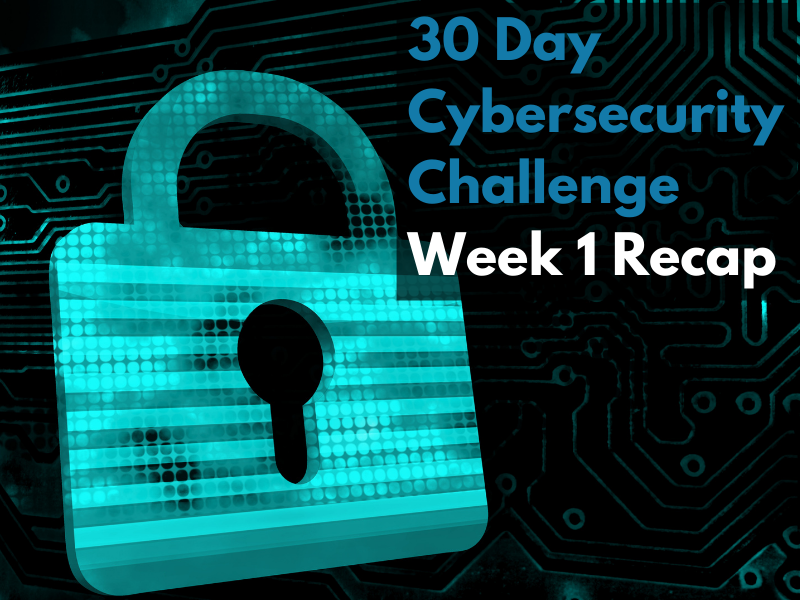 30-day Cybersecurity Challenge: Week 1 Recap