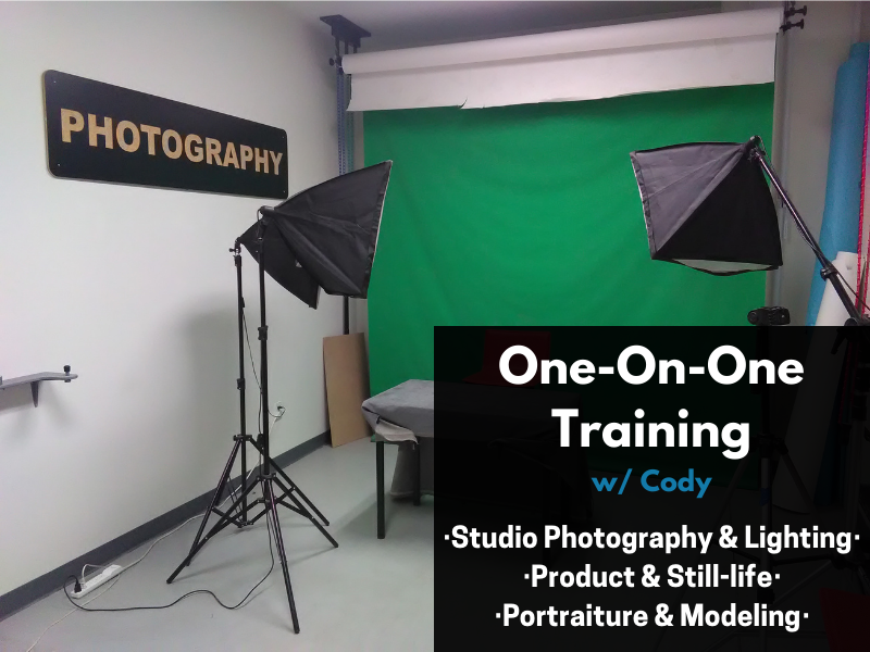 CANCELLED: 1on1 w/Cody - Photography Studio & Lighting