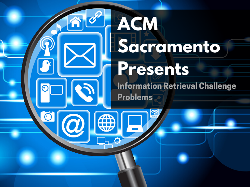 ACM Virtual Event: Information Retrieval Challenge Problems